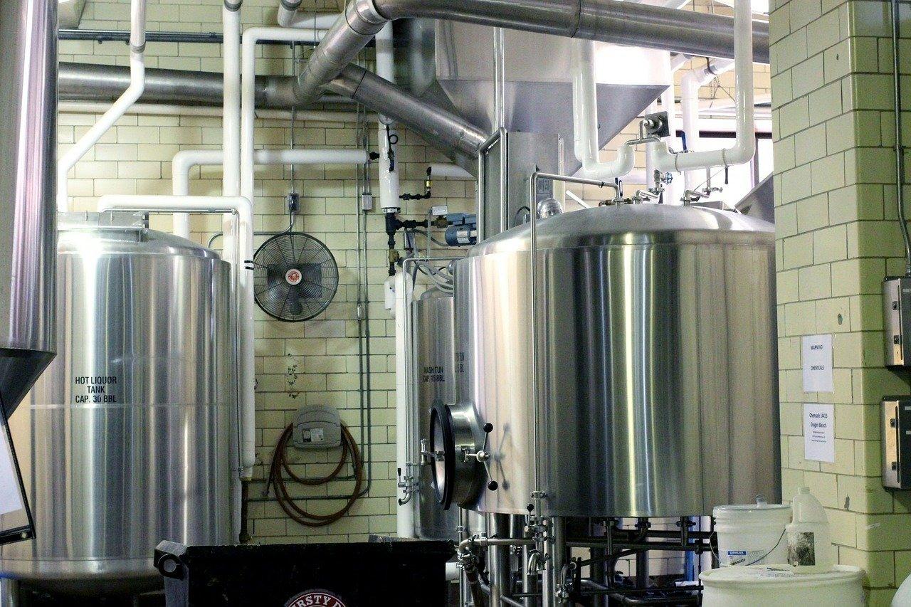 beer, brewery, metal tanks
